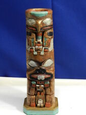 "Vintage Haida 6"" Totem Pole Candle Holder from Eagle & Beaver Post VT1355"