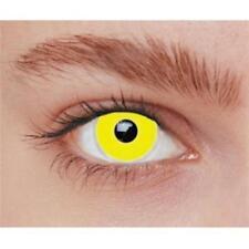 Lentilles de contact fantaisie iris jaune vif uni sous environnement stérile