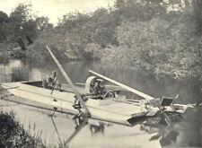 BOATS. Motor Punt Weed Cutter (Sanderson & Gifkins, Bedford) 1912 old print