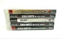 Lot of 5 Playstation 3 Games Call of Duty Modern Warfare,1 2 3 , Black Ops 1 & 2