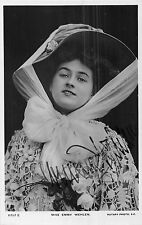 POSTCARD   ACTRESSES     EMMY  WEHLEN  (  Signed  )