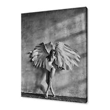 BEAUTIFUL ELEGANT ANGEL WOMAN WITH WINGS EROTIC CANVAS PRINT WALL ART PICTURE