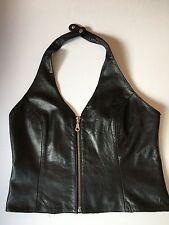 Women's Wilson's Leather Maxima Halter Zippered Bondage Look Motorcycle M 014-23
