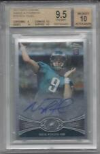 NICK FOLES 2012 TOPPS CHROME ON CARD AUTO RC #153 GRADED BGS 9.5 w/ 10 AUTO