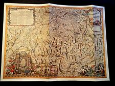 Map of Old Switzerland Print on Paper ,Pre-owned