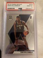 2019-20 Mosaic Zion Williamson PSA 10 GEM MINT #209 RC Rookie Card Pelicans QTY
