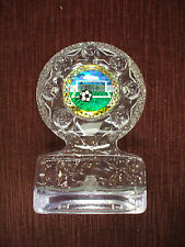 SOCCER trophy  acrylic full color insert award ball and net