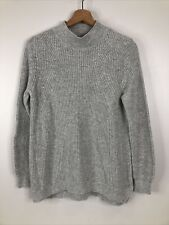 BP Nordstorm Women's Size L Gray Mock Neck Cable Knit Sweater