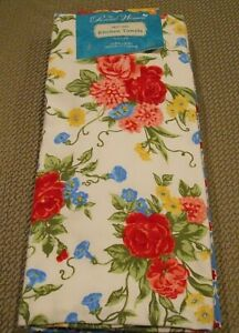 THE PIONEER WOMAN SWEET ROSE 4 KITCHEN TOWELS SET NEW