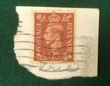 KING GEORGE POSTAGE REVENUE 2 D BROWN USED STAMP