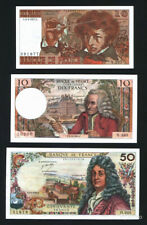FRANCE SET 2*10+50 francs 1969-1977 NO PINHOLES!
