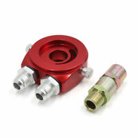 M20 x 1.5 AN10 Inlet Outlet Car Oil Filter Cooler Sandwich Plate Adapter Red