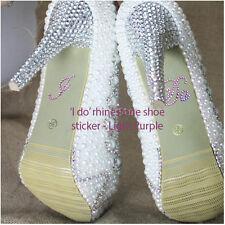 Diamante Wedding Shoe Clean Heels I Do Stickers #7R513