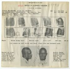 Wanted Notice - Joseph Malbrough/Clemency Violator - Texas Prison System, 1943