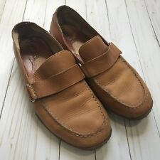 Born Mens Brown Leather Penny Loafer Casual Shoes Size 11