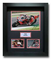 JORGE LORENZO HAND SIGNED FRAMED PHOTO DISPLAY - MOTOGP DUCATI AUTOGRAPH 2.