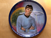 "Star Trek, Mr. Spock,  8.5"" Collector Plate #2945R, 1983, Original Box with COA"