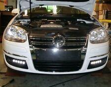 10 LENTILLE LED FEUX DE JOUR DIURNE + BOITIER DRL VW GOLF 4 5 6 PASSAT TOUAREG