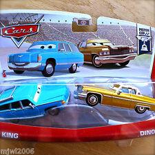 Disney PIXAR Cars MRS THE KING & TEX DINOCO 2013 PISTON CUP 2-PACK 5/18 & 6/18