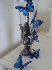 Mariposas boda 10 Accesorios De Mesa Real Azul Chispeante Vela de jaula de pájaro