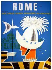 "Rome Art Vintage Travel Poster Print 12x16"" Rare Hot New XR291"