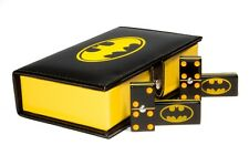 Batman Dominoes Game Set Double Six Domino Leather Case Man Cave New