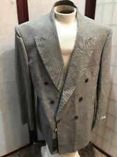 Zegnorelli Collezione Italy 2 piece Suit Double Breasted Gray Mens Size 58 44