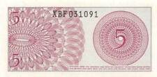 Indonesia  *5*  Sen  1964  Series XBF Replacement  Uncirculated Banknote SF1117R