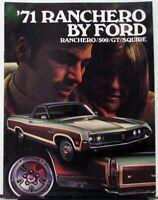 1971 Ford Ranchero 500 GT Squire Sales Brochure Dtd 7-70 Original
