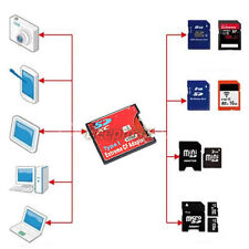 New SDXC SDHC SD to Type I Compact Flash Card CF Adapter Max Support 2TB