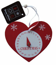 Compte À Rebours De Noël Horloge Cœur,Bois Calendrier De L'avent Arbre De Noël