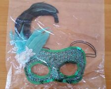 Sylvana Green black Feathers eyemask Mask masquerade Costume Dr Toms NF6418