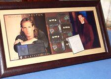 "Autographed MICHAEL BOLTON ""TIME LOVE & TENDERNESS"" MULTI-PLATINUM SALES AWARD"
