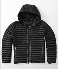 Abercrombie & Fitch Ultra Lightweight Hooded Down Puffer Jacket Black - Size M