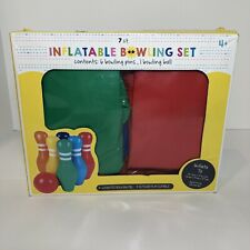 Children's 7 Count Inflatable Bowling Full Complete Set Rainbow Colors