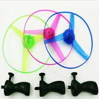 Led Pull String Helicopter Bamboo Copter Propeller Aircraft Kids Flying Toy Gift