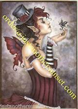 Amy Brown Greeting Card Fae Risque Fairy Faery Victorian Corset Bee Bug Creature