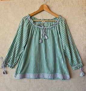 Mist ladies boho cotton top size S