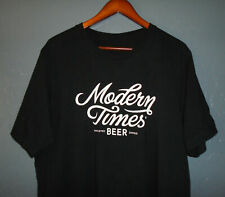 New listing MODERN TIMES Beer T-Shirt BLACK ss IPA Lager Stout Official Brewery NEW Lg