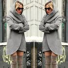 Women Ladies Woolen Warm Top Casual Long Jacket Hooded Coat Outwear Overcoat Hot