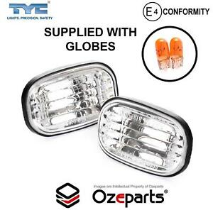Set Pair Indicator Guard Repeater Light Flasher (Clear) For Toyota Tarago 00~06