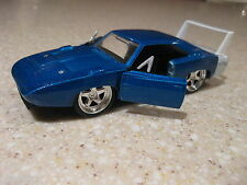 1969 DODGE CHARGER DAYTONA 1:32 DIECAST OPENING DOORS PULLBACK ACTION BLUE