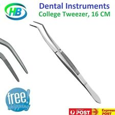 DENTAL INSTRUMENTS COLLEGE TWEEZERS COTTON PLIERS STAINLESS STEEL 16CM, NEW