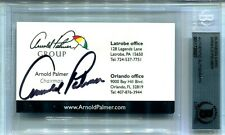 """SIGNED BUSINESS CARD ARNOLD PALMER, """"THE KING"""" ONE OF PGA'S BEST, PGA"""