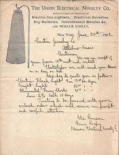 1902 Illus Letterhead, Incandescent Mantle, Union Electrical Novelty Co.