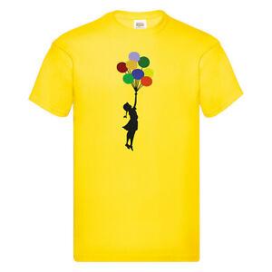 T-Shirt Banksy Girl Fly away Design Druck XS S M L XL 2XL Verschiedene Farben