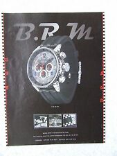BRM BERNARD RICHARDS MANUFACTU WATCH V18 48 TN POSTER ADVERT READY FRAME A4 SIZE