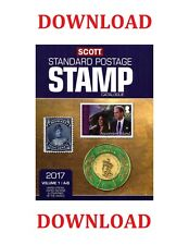 SCOTT 2017 STANDARD POSTAGE STAMP CATALOGUE COLLECTIONS ON DOWNLOAD!!