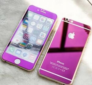 COLORFUL Front + Back Tempered Glass iPhone 4 5 6 S 7 8 Plus Screen Protector