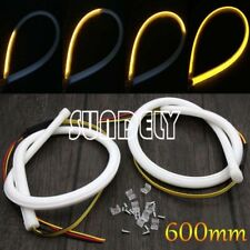 2x 60cm LED Switchback DRL Strip Light Sequential Daytime Running Turn Signal
